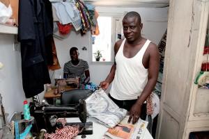 Tailor at work in Dakar