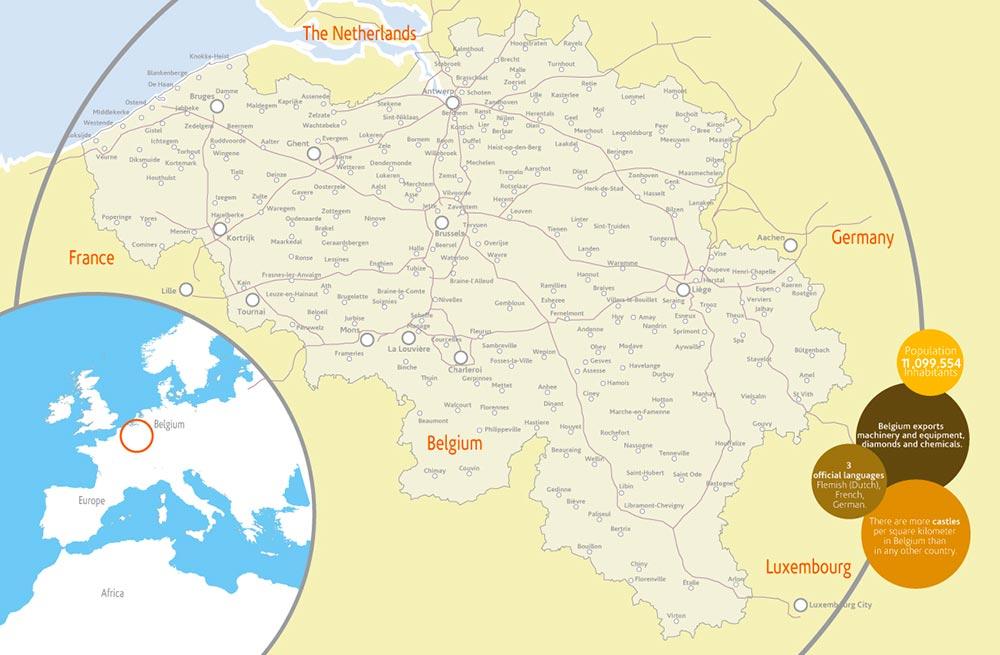 Mappa-Belgio