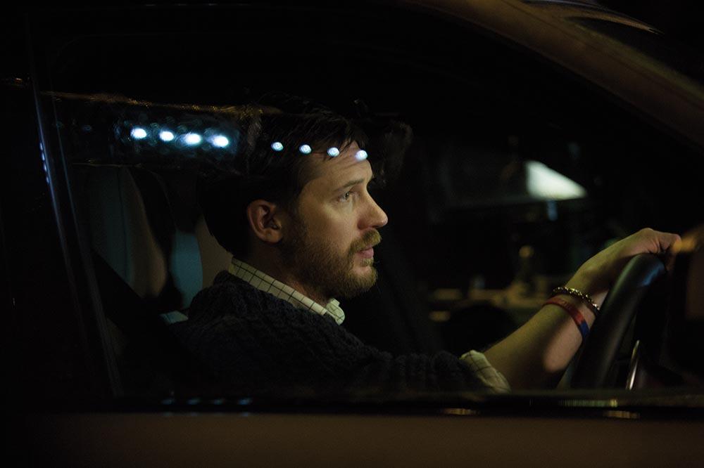 Ivan Locke in his car