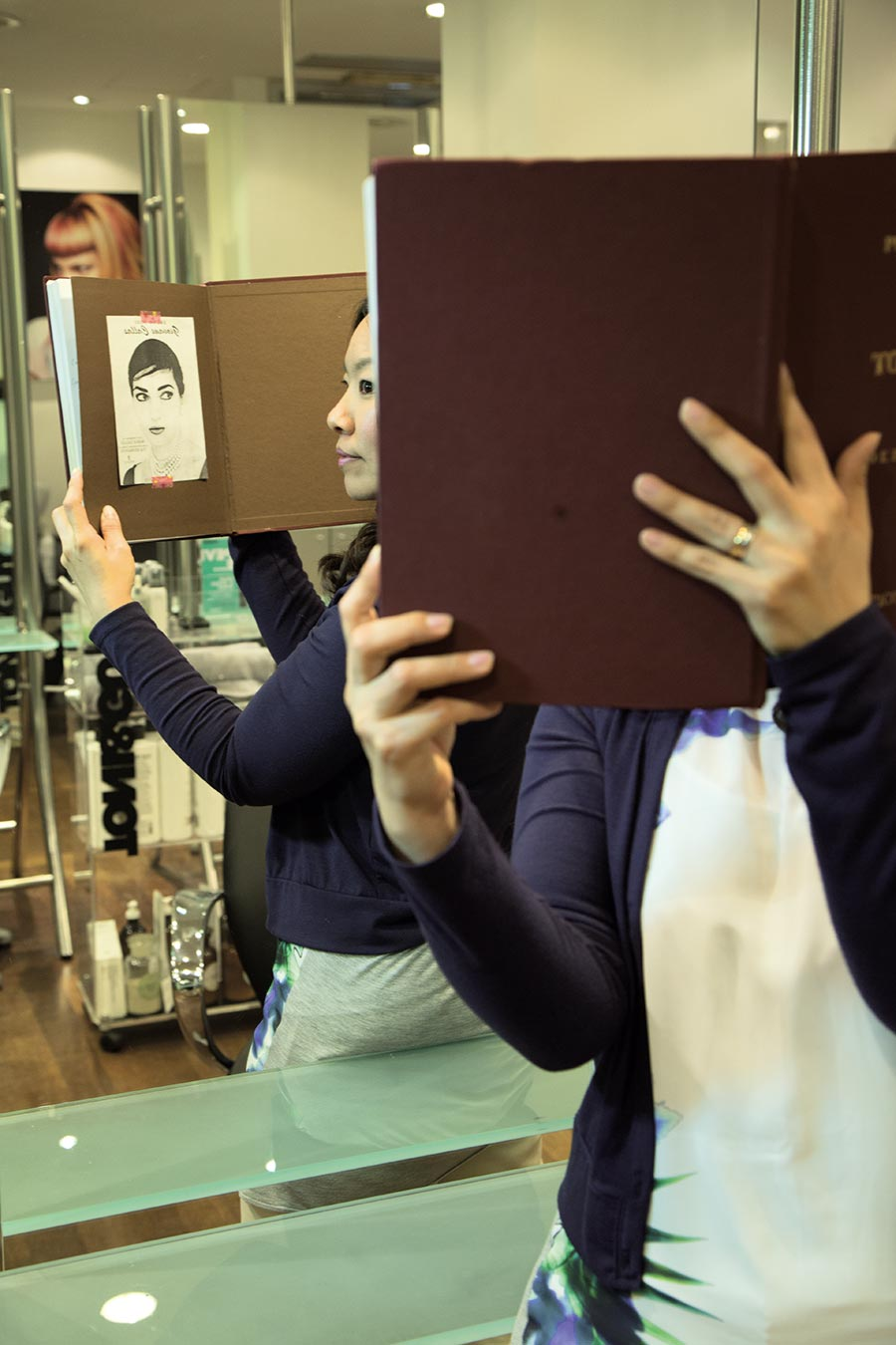 Injae Lee holds up a portrait of Maria Callas, her idol. Photos by Max Di Vincenzo, Milan, Italy