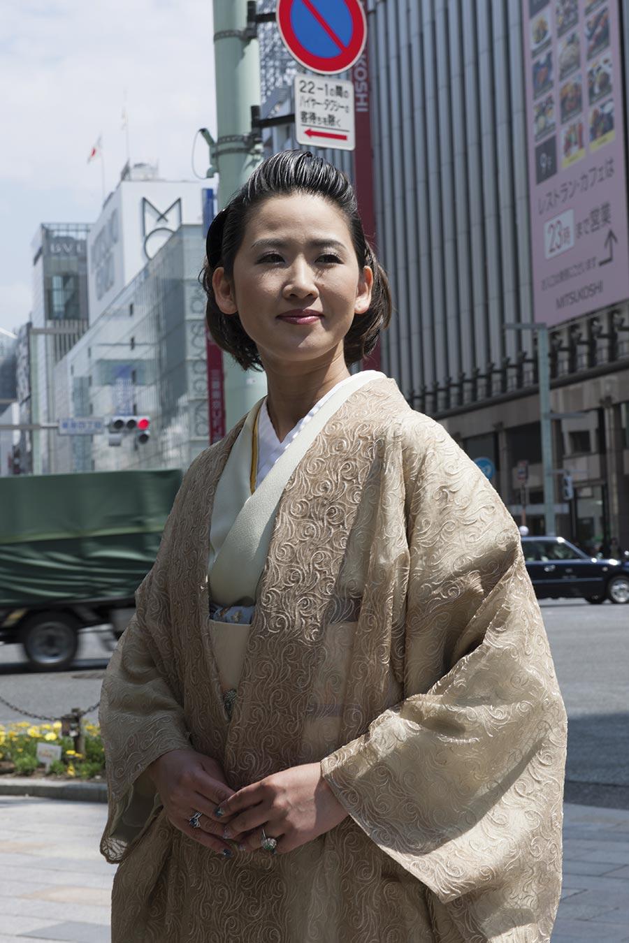 Yuko Sato, kimono teacher. Photos by Paolo Mazzo, Milan, Italy