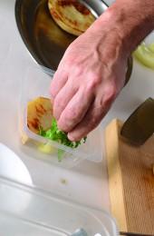 Finishing plating the dish