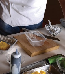 Getting ready to plate the dish