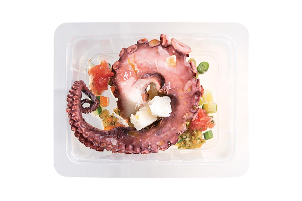 octopussy with green salsa